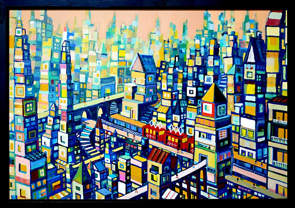 New!! The city of dawn 50x72cm oil on canvas 2015 sale soon on gallery Tagboat