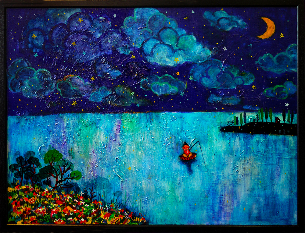 SOLD!! Blue night 60x80cm oil on canvas 2012  GALLERY TAGBOAT