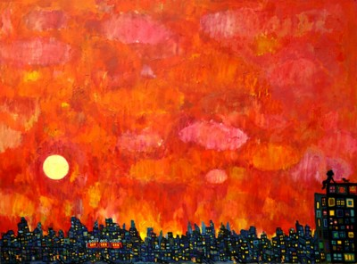 on sale!! evning 170x220cm oil on canvas 2013 Gallery Tagboat/Tokyo