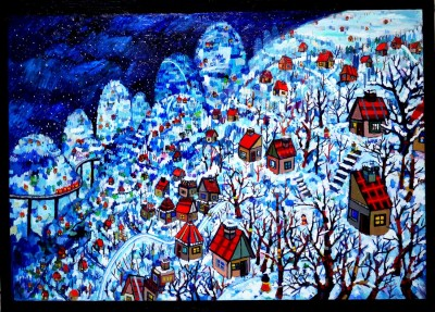 on sale!! Whitetown 100x140cm oil on canvas 2015 Gallery Tagboat/Tokyo