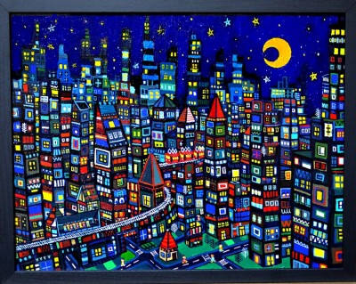 SOLD!! city 31x41cm oil on canvas 2015  GALLERY TAGBOAT/Tokyo