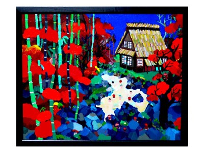 SOLD!! Autumn Hot spring  40x50cm oil on CANVAS 2015 GALLERY TAGBOAT/TOKYO