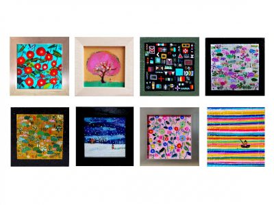 now on sale!! small pictures set   oil on canvas 10x10cm  2008-2013 GALLERY TAGBOAT/TOKYO