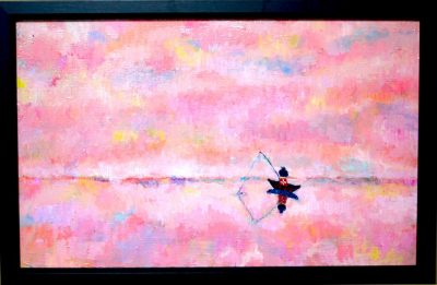 SOLD!! Dream Fishing   oil on canvas 33x53cm  2016 GALLERY TAGBOAT/TOKYO