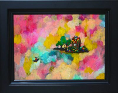 NOW ON SALE!!  DREAM FISHING    oil on canvas  24x33cm   GALLERY TAGBOAT/TOKYO