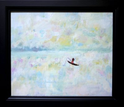 NOW ON SALE!! Dream Fishing oil on canvas  38x45cm   2017