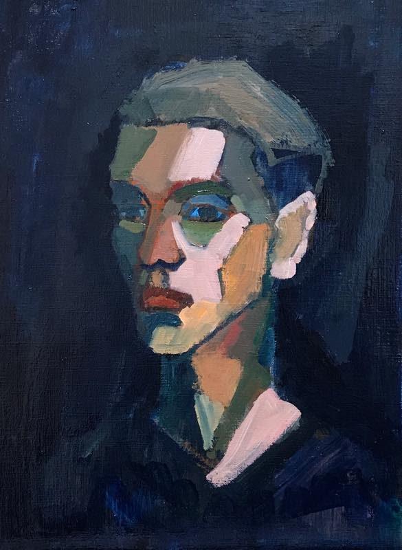 Portrait 40x30cm oil on carton  2017