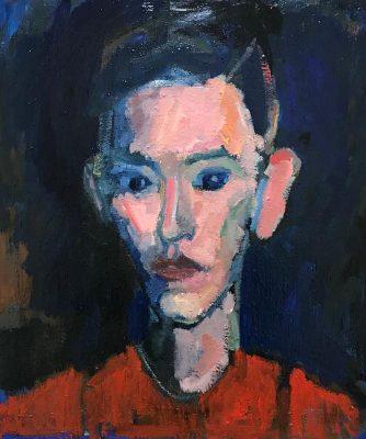 Portrait 53x47cm oil on canvas  2017
