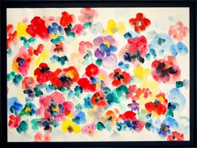 NEW!! Pansy 52x71cm aquarell  on japanese paper  2017