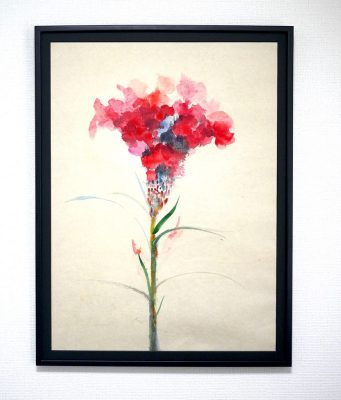 NEW!! Flowers 71x52cm aquarell  on japanese paper  2017