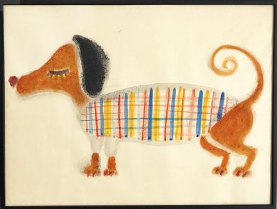 ON SALE!! DACHSHUND 53x71cm aquarell on japanese paper 2017  GALLERY TAGBOAT #art #DOG