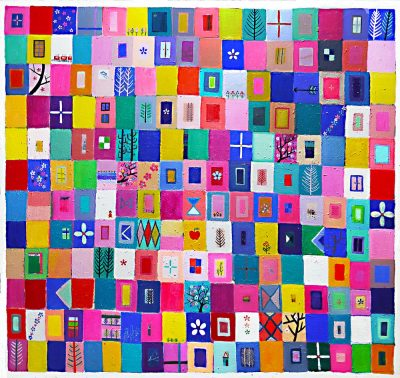 ON SALE!!  SPRING COLOUR (Large size) 160x170cm oil on canvas 2017 GALLERY TAGBOAT #contemporaryArt