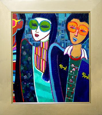 ON SALE!! Megane girls 53x45cm oil on canvas 2018 GALLERY TAGBOAT TOKYO   #contemporaryArt