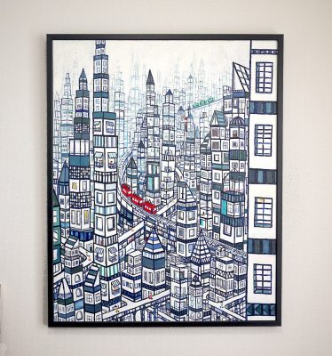 ON SALE!! City 100x80cm oil on canvas 2018 GALLERY TAGBOAT TOKYO   #contemporaryArt