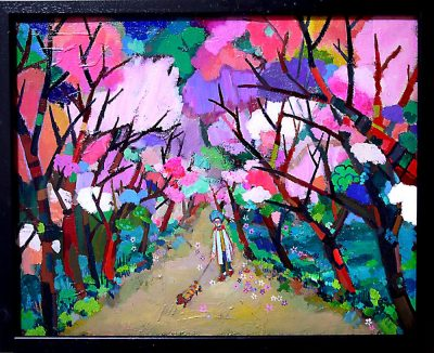 NEW & NOW ON SALE/SPRING PROMENADE  40x50cm oil on canvas 2018 GALLERY TAGBOAT TOKYO   #contemporaryArt