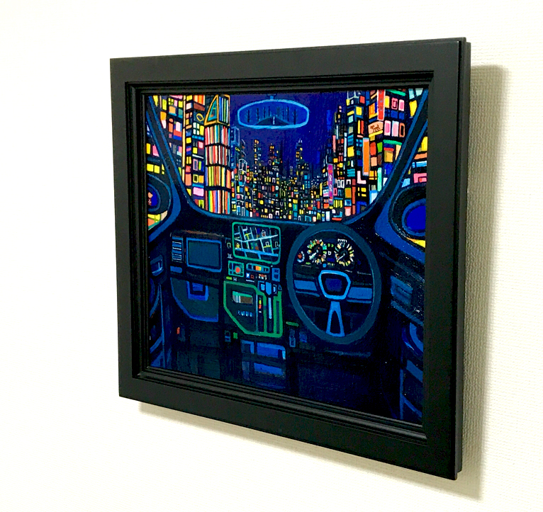 ON SALE/Night Drive  38x45cm oil on canvas board  2018 GALLERY TAGBOAT TOKYO   #contemporaryArt