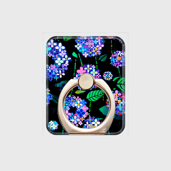 SOLD   Smartphone Ring     hydrangea    otanitaro.com   #creema  #handmade