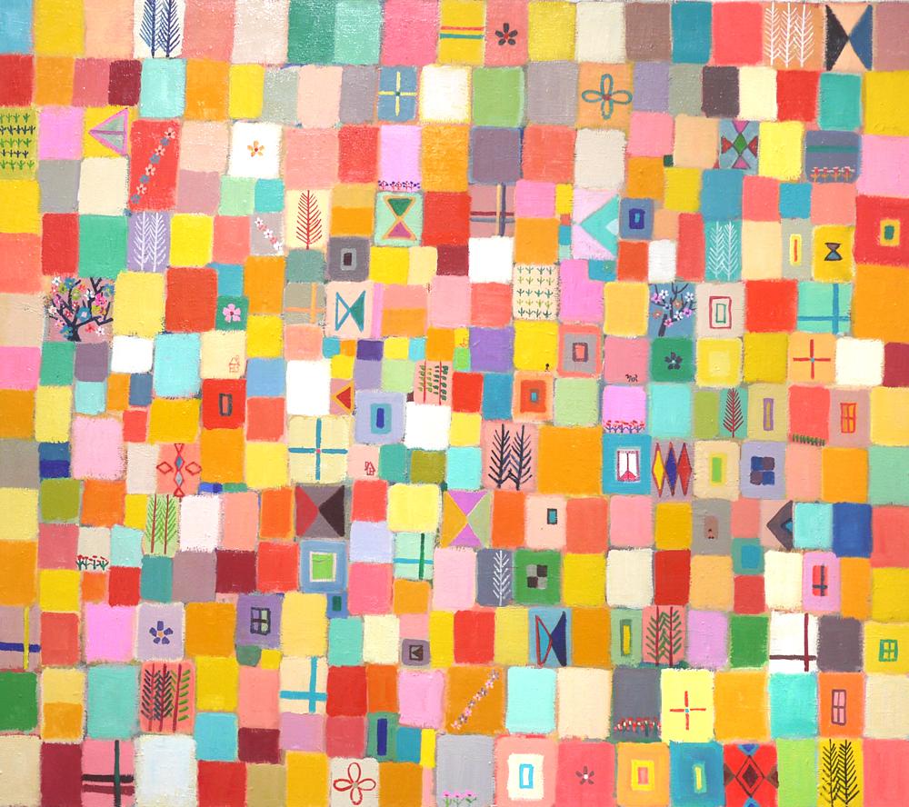 ON SALE | Colour of flowers | 80 x 90 cm |  2018 | KYURYUDO | TOKYO | JAPAN #contemporaryart