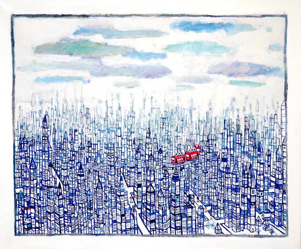 SOLD | CITY | 50 x 60 cm |  2019 | KYURYUDO | TOKYO | JAPAN #contemporaryart