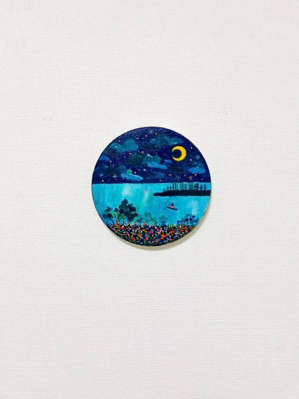 coming soon | Starry night | 22 cm | oil x Canvas | 2019 |SALE/KYURYUDO #contemporaryArt