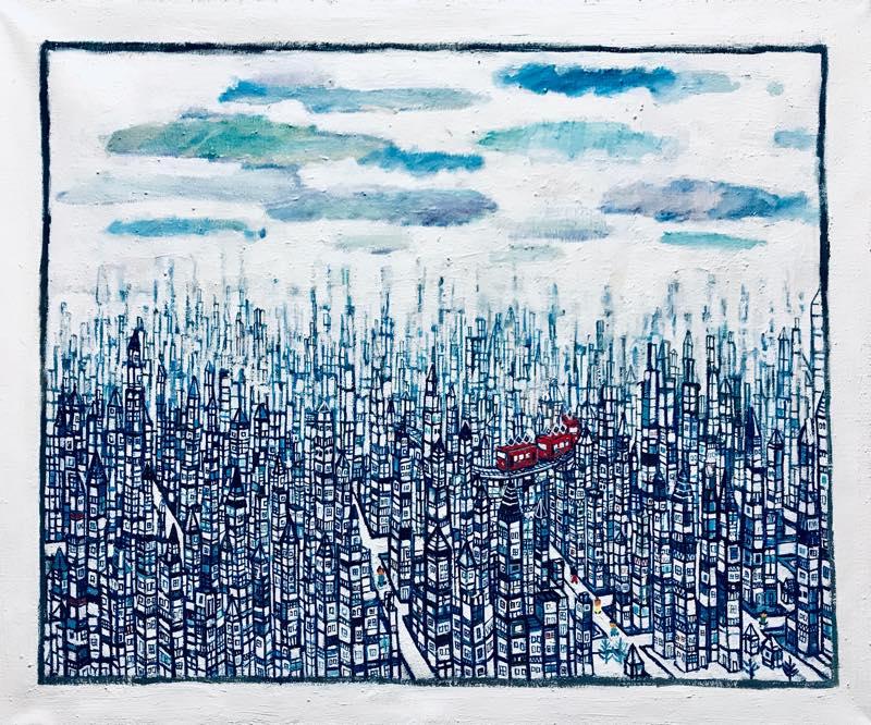 NEW | CITY | 50 x 60 cm | oil x Canvas | 2019 | #contemporaryArt