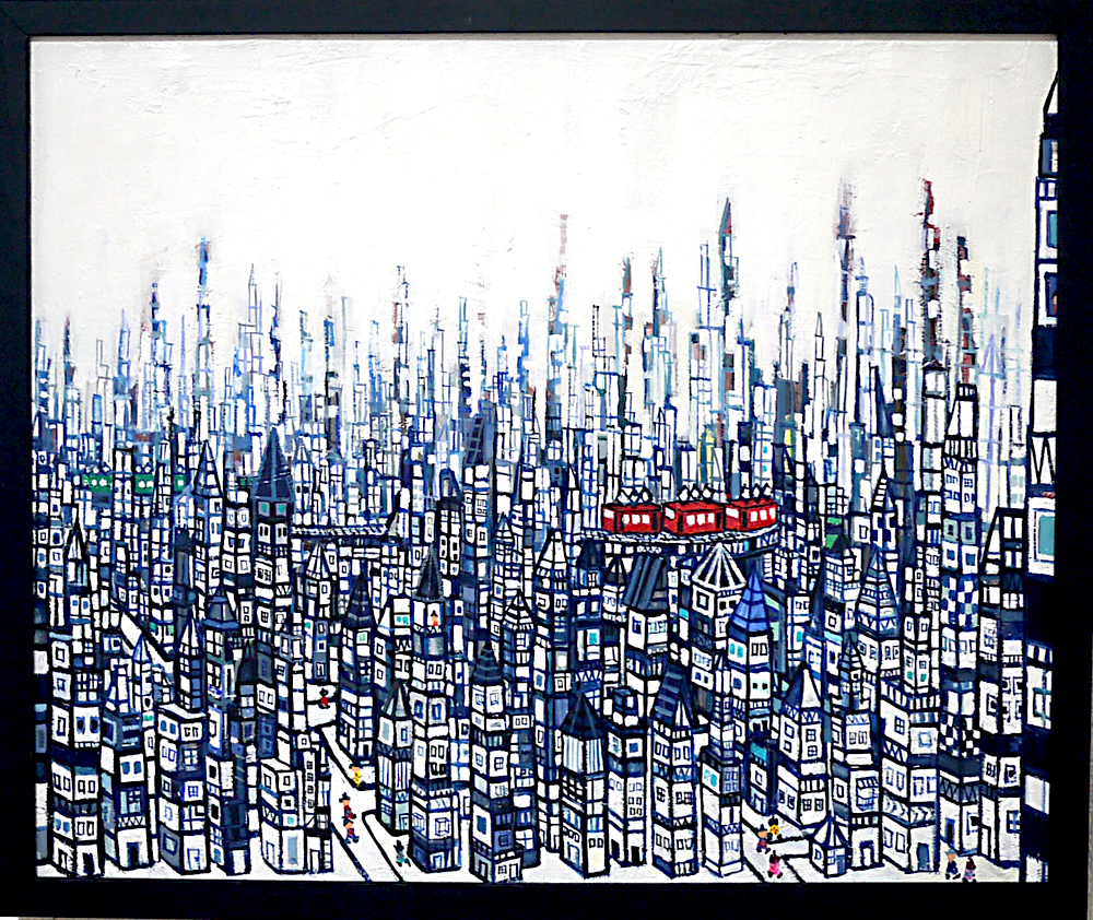 ON SALE | CITY | 38 x 45 cm | oil x canvas  | 2019 |  TAGBOAT | JAPAN #contemporaryArt