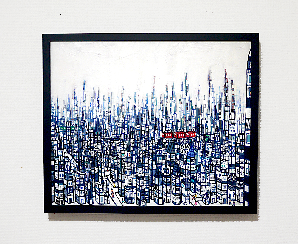 SOLD | CITY | 38 x 45 cm | oil x canvas  | 2019 |  TAGBOAT | JAPAN #contemporaryArt