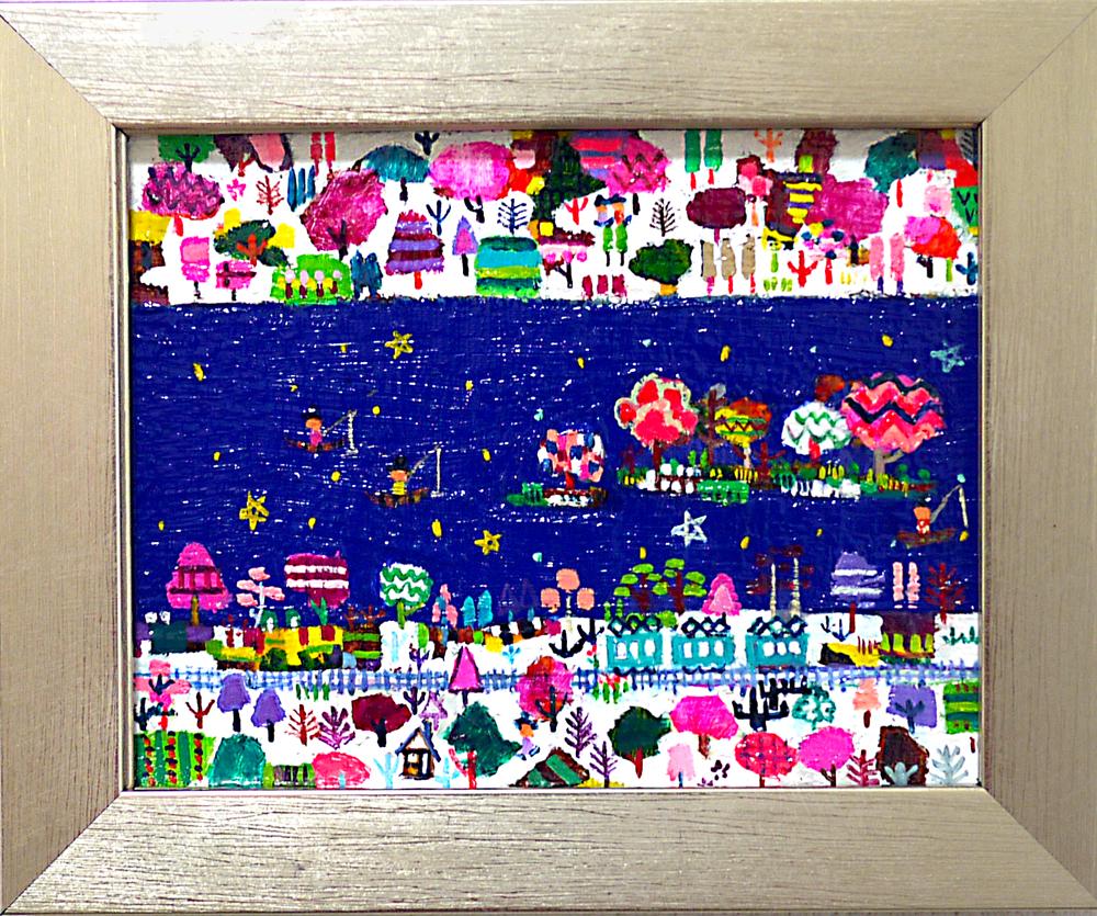 ON SALE | Spring River |  14 x 18 cm | Kyuryudo-online | TARO OTANI | Cityscapes |   | TOKYO | GALLERY LA RUCHE