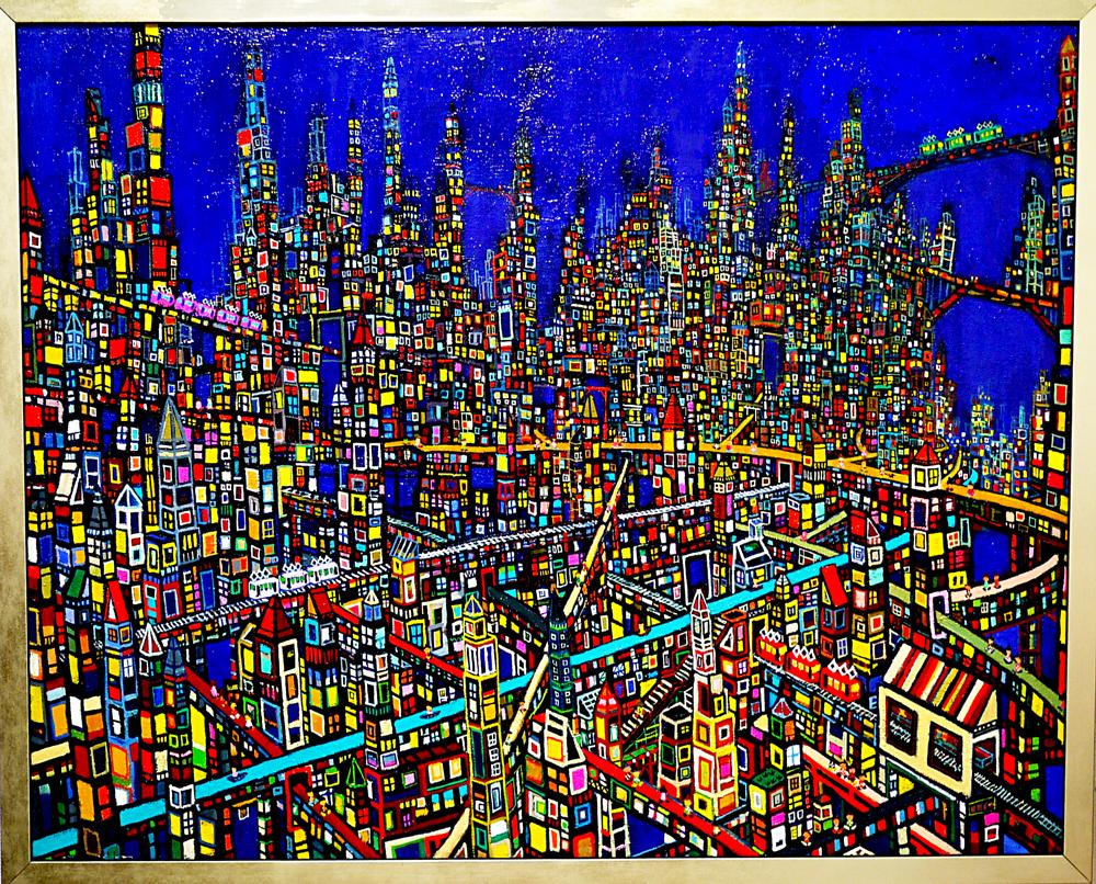 ON SALE | City |  80 x 100 cm | Kyuryudo-online | TARO OTANI | Cityscapes |   | TOKYO | GALLERY LA RUCHE