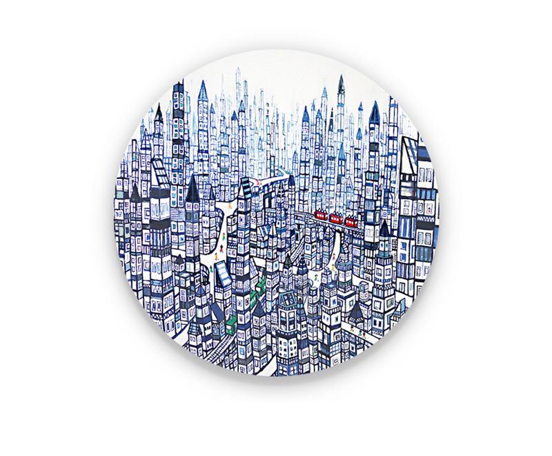 ON SALE | City |  53 x 53 cm | Kyuryudo-online | TARO OTANI | Cityscapes |   | TOKYO | GALLERY LA RUCHE