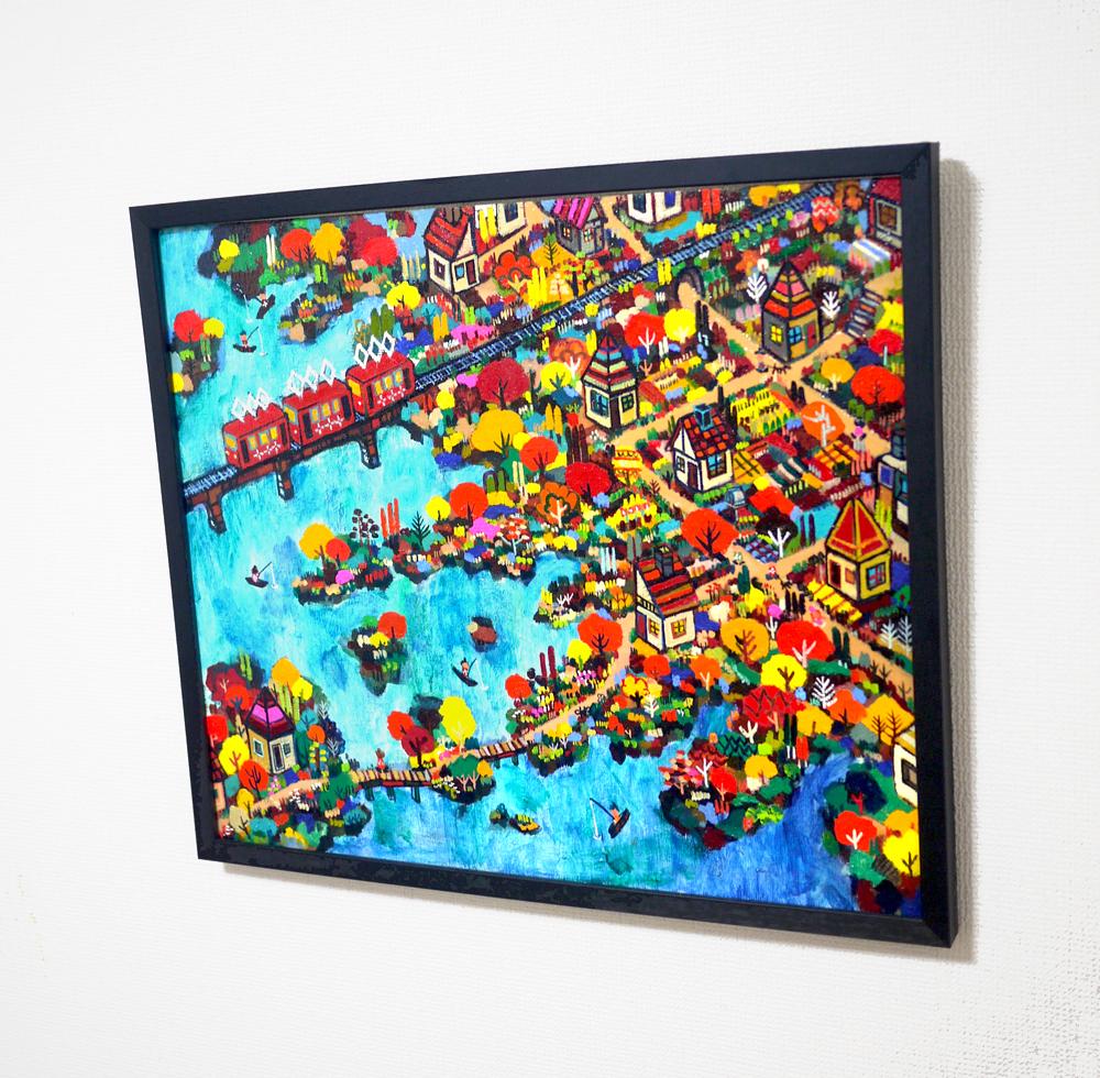 ON SALE | Autumn Promenade | 45 x 53 cm | oil x canvas board  | 2018 | GALLERY TAGBOAT | JAPAN #contemporaryArt