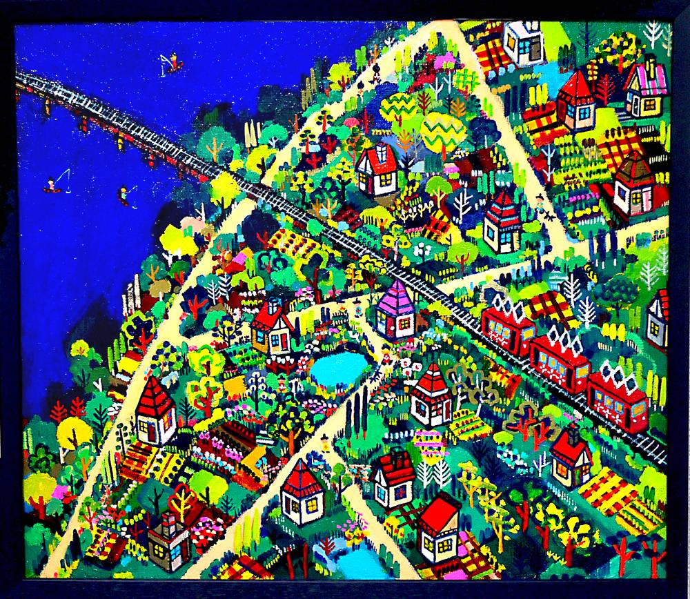 ON SALE | Summer Promenade | 45 x 53 cm | oil x canvas board  | 2018 | GALLERY TAGBOAT | JAPAN #contemporaryArt
