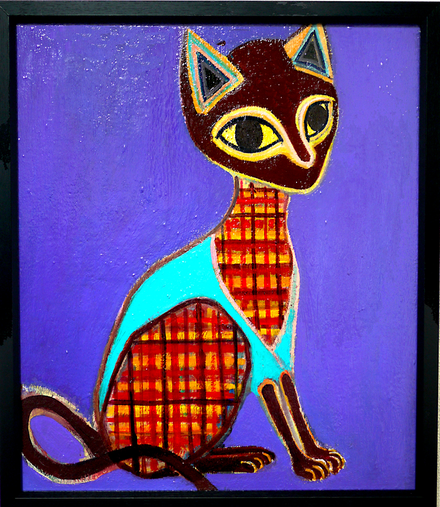 ON SALE | Cat | 53 x 45 cm | oil x canvas | 2018 | GALLERY TAGBOAT | JAPAN #contemporaryArt