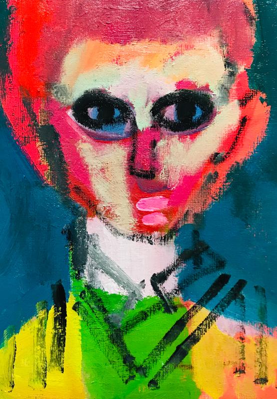 Works | 33 x 24 cm | oil x canvas board | 2019 | #contemporaryArt