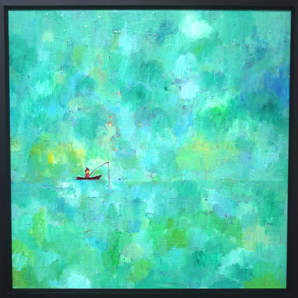 SOLD | Summer Fishing | 53 x 53 cm | oil x canvas  | 2019 |  TAGBOAT | JAPAN #contemporaryArt