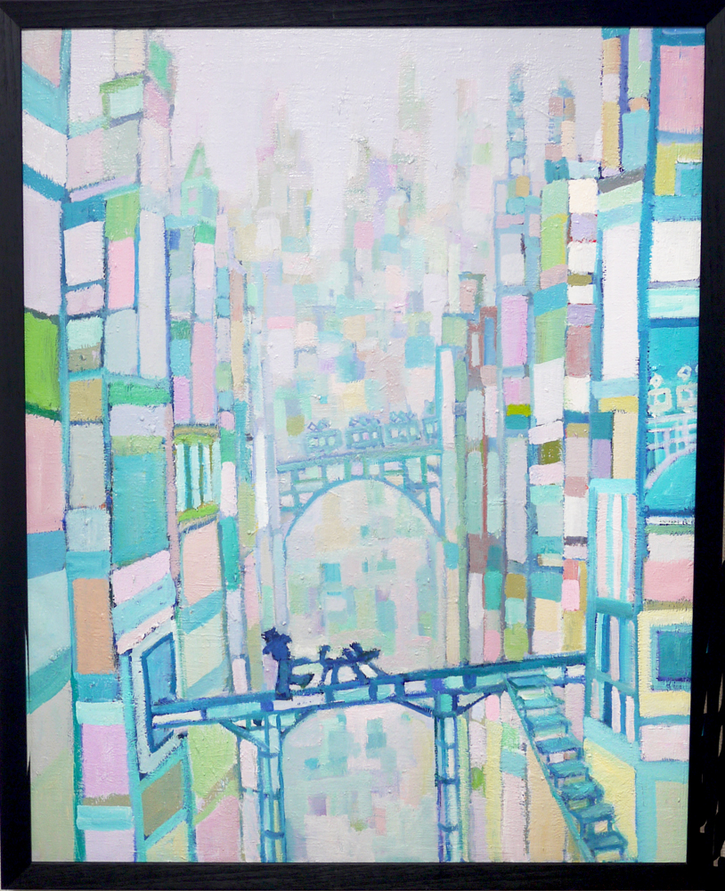NOW ON SALE |  Building | oil x canvas | 91 x 72 cm | 2019 | GALLERY TAGBOAT | JAPAN #contemporaryArt