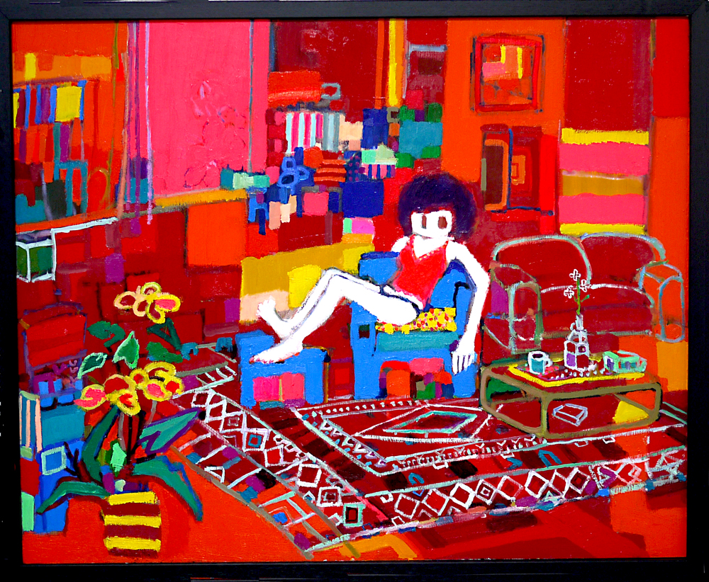 ON SALE | Living room | oil x wood pnel | 53 x 65 cm | 2019 | GALLERY TAGBOAT | JAPAN #contemporaryArt