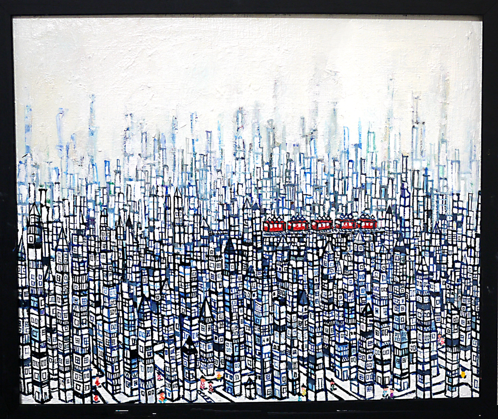 NOW ON SALE | city | oil x canvas board | 38 x 45 cm | 2019 | GALLERY TAGBOAT | JAPAN #contemporaryArt
