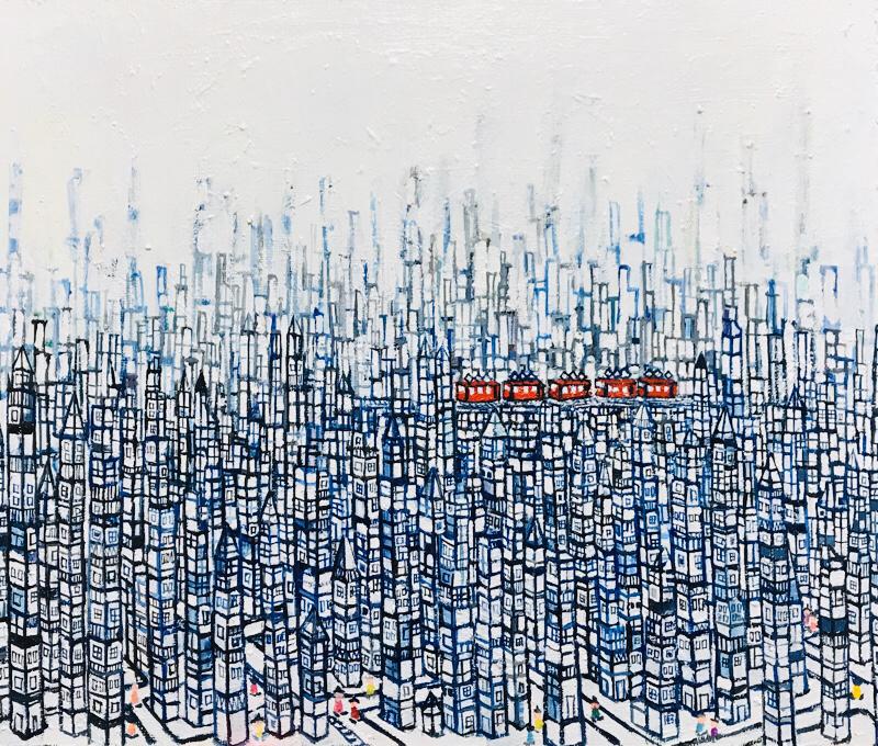 NEW | CITY | 38 x 45 cm | oil x canvas board | 2019 | #contemporaryArt
