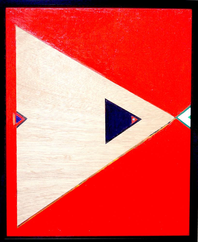 SOLD | Dreieck | 65 x 53 cm | oil x wood panel  | 2019 |  TAGBOAT | JAPAN #contemporaryArt