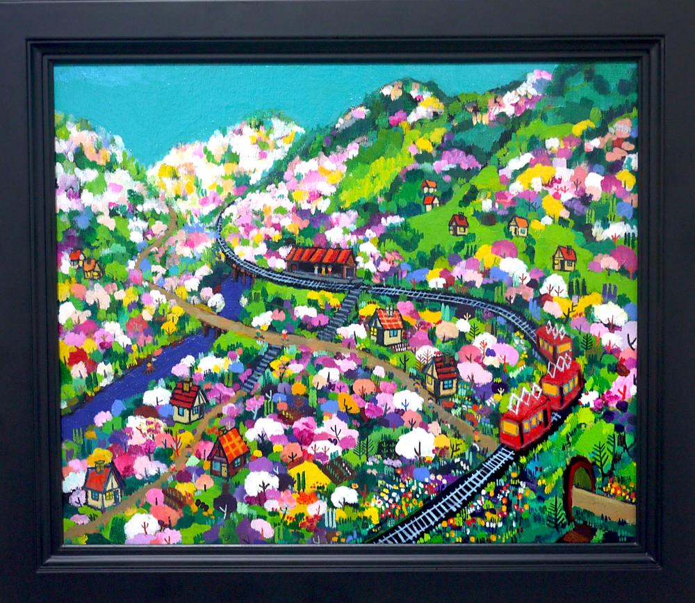 NOW ON SALE | spring promenade | 38 x 45 cm | Kyuryudo | Japan #contemporaryart