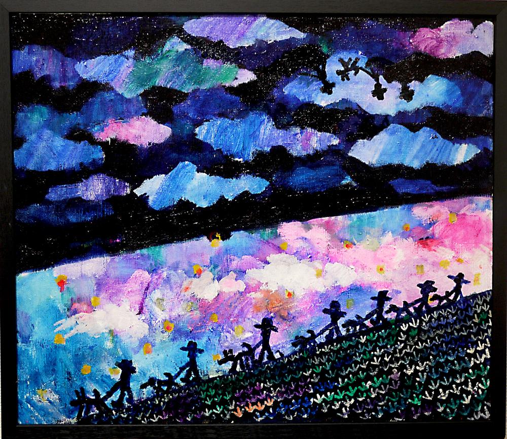 Coming soon | night walker | oil x canvas board | 45 x 53 cm | 2019 | GALLERY TAGBOAT | JAPAN #contemporaryArt