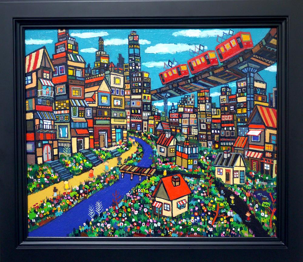 NOW ON SALE | City | 38 x 45 cm | Kyuryudo | Japan #contemporaryart