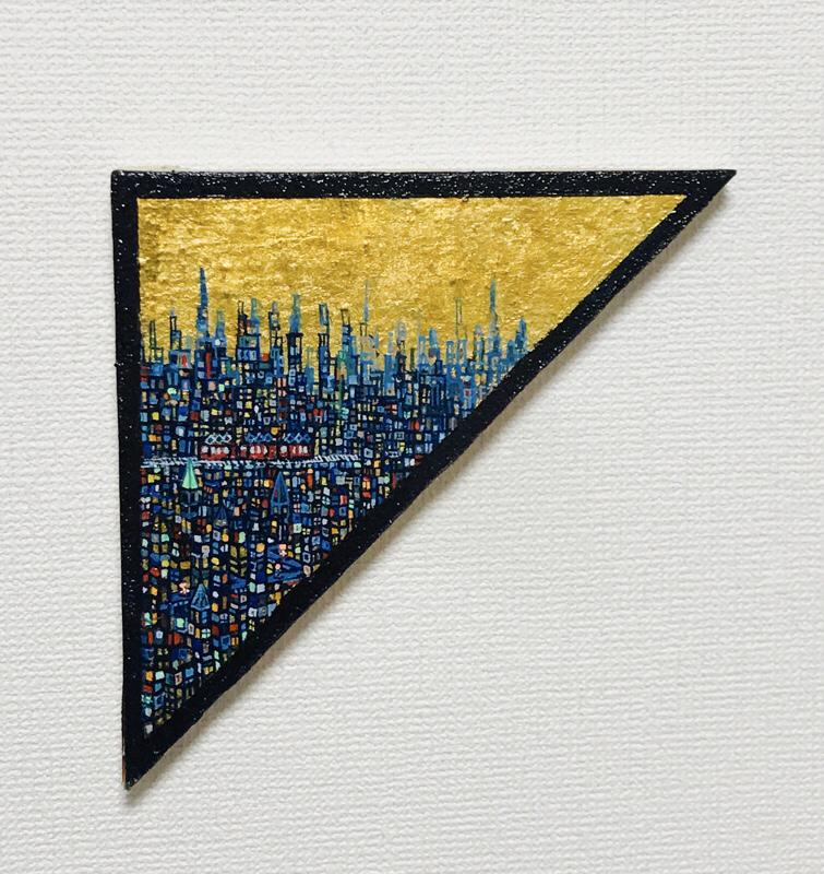 NEW | EXHIBIT THIS PICTURE | Gold Town | 25 x 35cm | 2020 | Next Exhibition | 3331 Art Fair 2020 | Tokyo | 18.03-22.03.2020