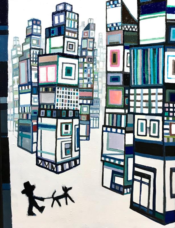 NEW | City Walker | 130 x 97 cm | oil x canvas | 2020 | #contemporaryArt