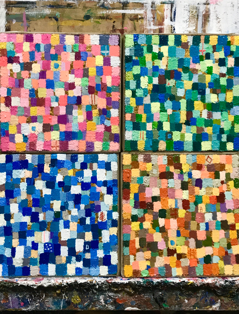 WORKS | EXHIBIT THIS PICTURE | 10 x 10 cm x 4 | 2020 | Next Exhibition | 3331 Art Fair 2020 | Tokyo | 18.03-22.03.2020