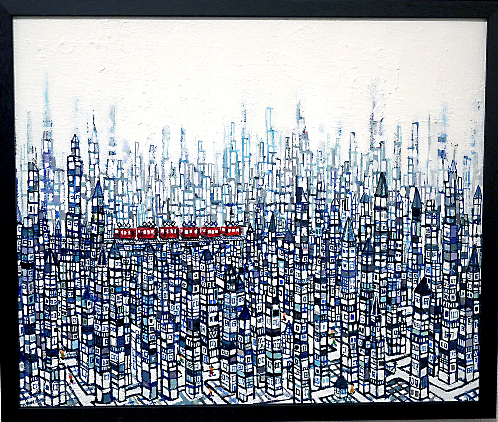 NOW ON SALE | City | 38 x 45 cm | Kyuryudo | 2020 Japan #3331Art fair#contemporaryart