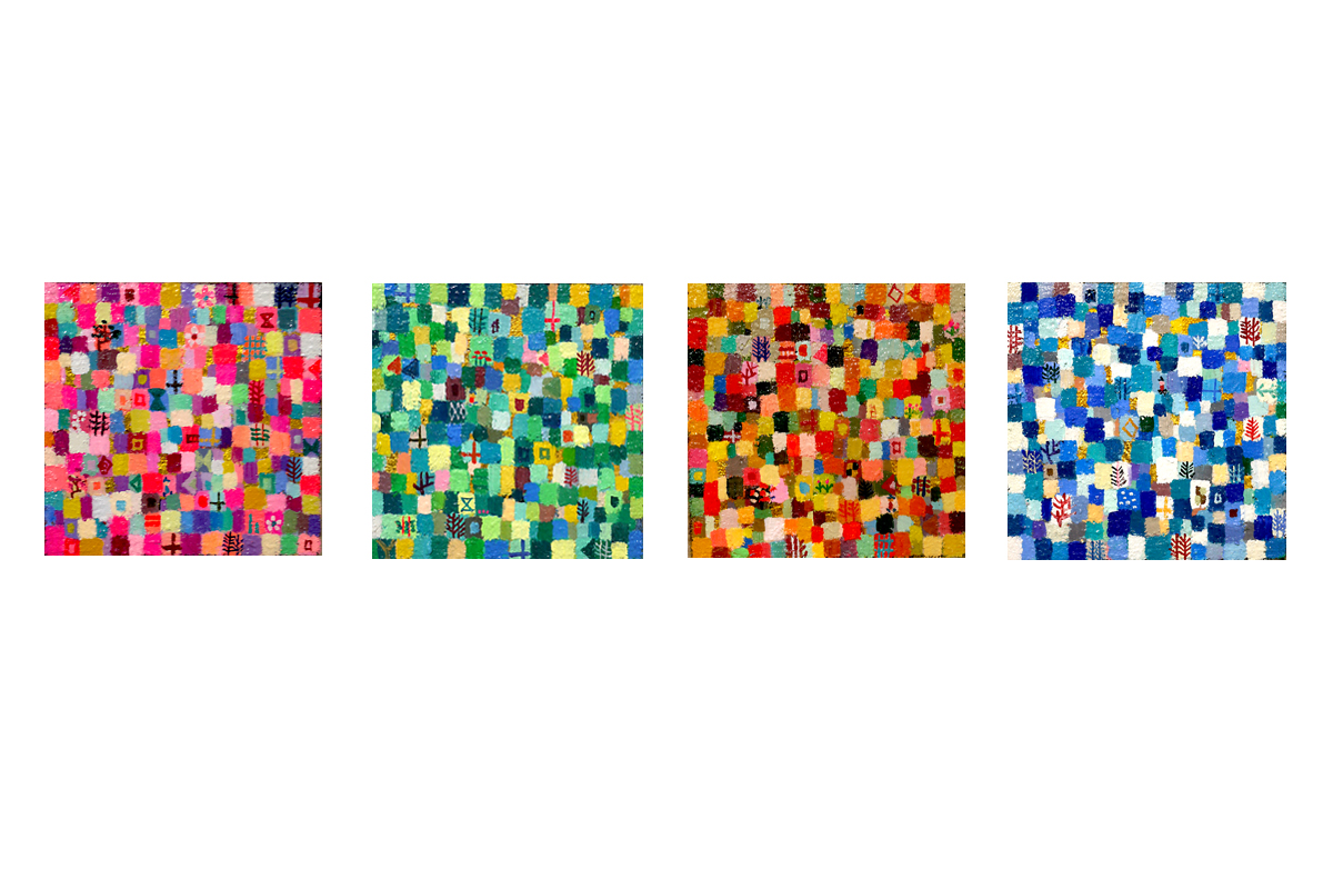 NOW ON SALE | 4 season colours set | 10 x 10 cm | Kyuryudo | 2020 Japan #3331Artfair #contemporaryart