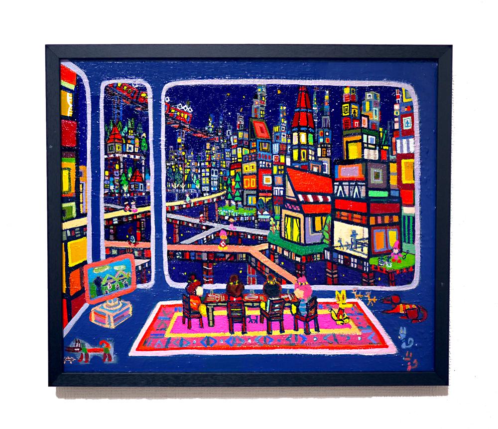SOLD | LIVING ROOM  | 38 x 45 cm |  2020 | KYURYUDO | TOKYO | JAPAN #contemporaryart