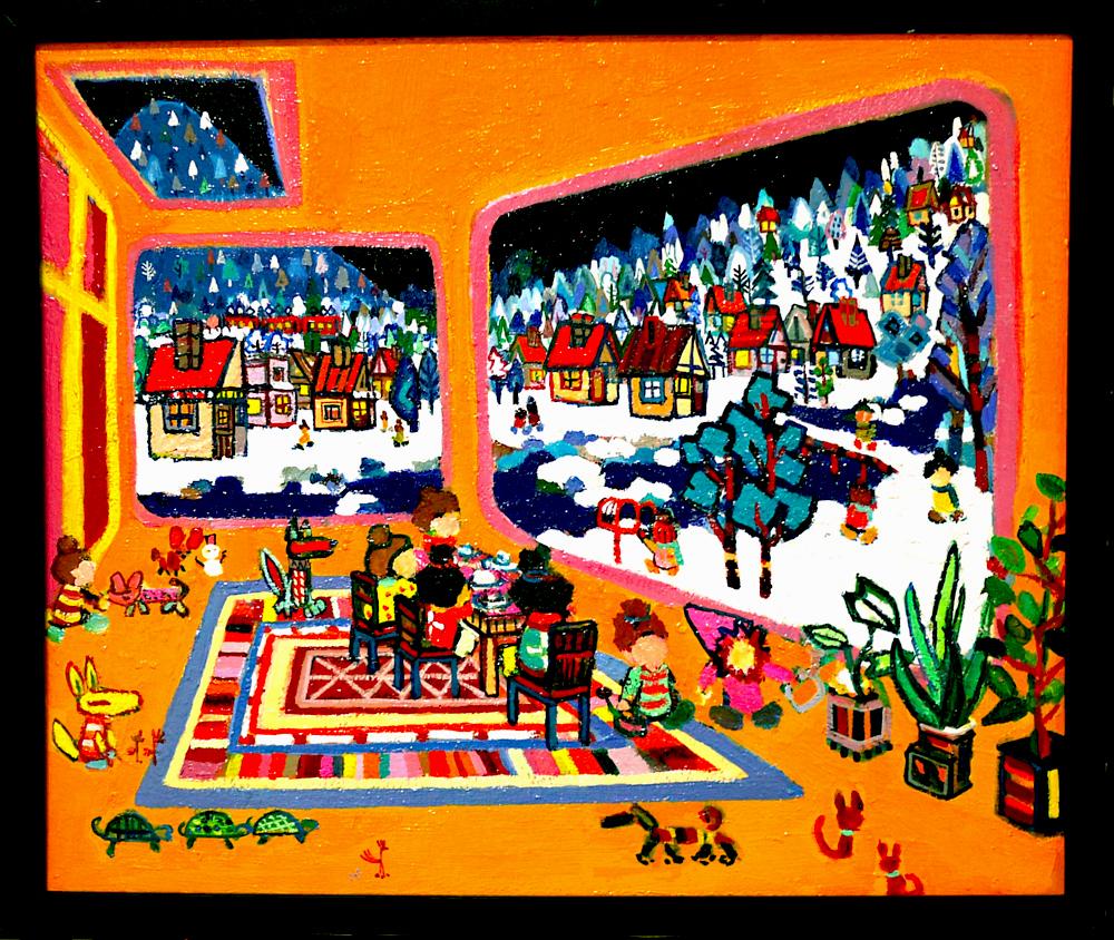 NEW | winter room | 38 x 45 cm | oil x canvas board | 2020 | #contemporaryArt